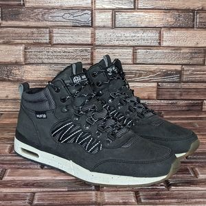 Huf HR Grey Leather Lace Up - Men's 10.5